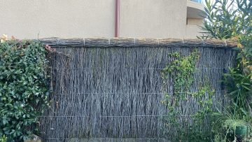 ruined brush fence repair